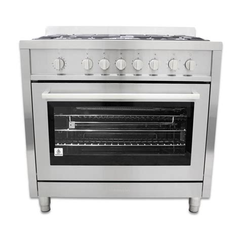 Oven Gas Cosmos cosmo 36 in 3 8 cu ft gas range in stainless steel with 5 italian made burners and motorized