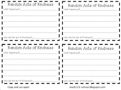 kindness card template random acts of kindness cards templates 28 images