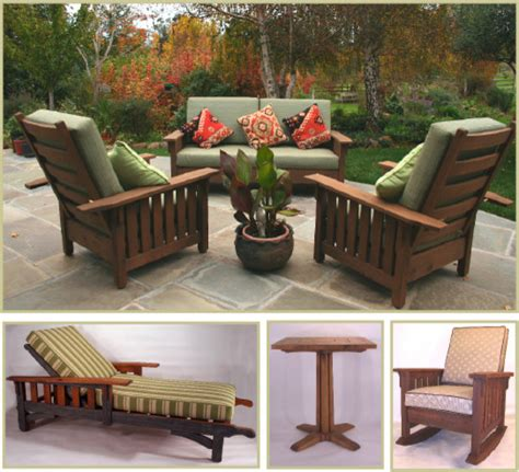 Craftsman Style Patio Furniture by Reed Bros Washoe Collection Outdoor Craftsman Style