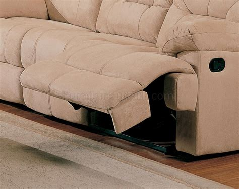 Stylish Reclining Sofa by Beige Saddle Fabric Stylish Modern Reclining Sectional Sofa