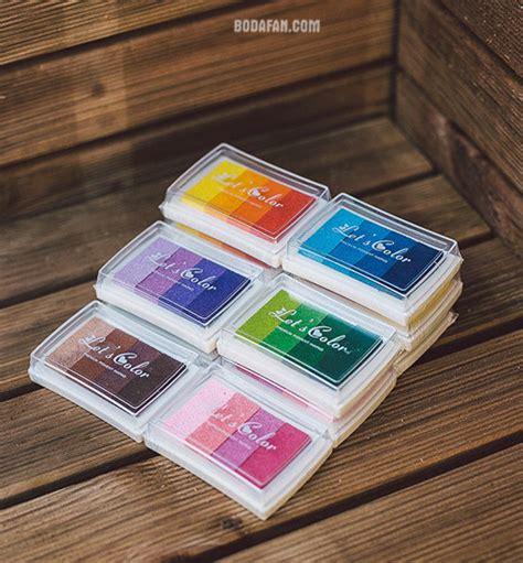 ink pads for rubber sts tintas de dedos para 225 rbol de huellas y firmas para bodas