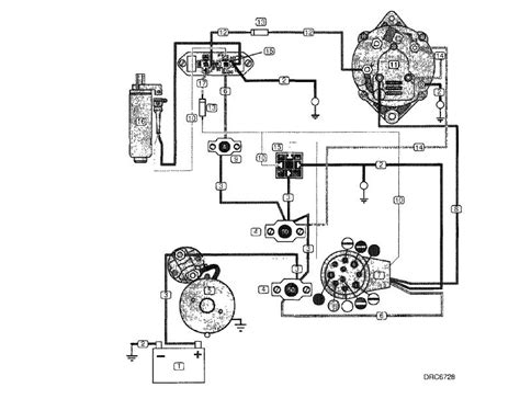 omc alternator wiring diagram free wiring