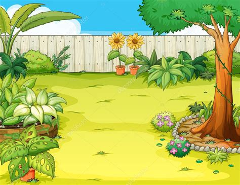 beautiful garden stock vector  interactimages