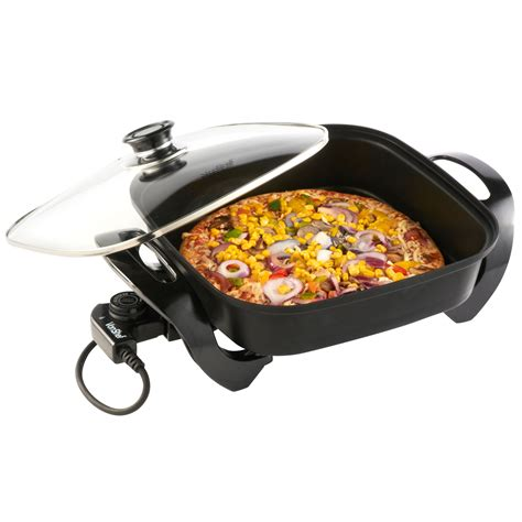 table top frying pan vonshef 1500 watt multi cooker 30cm square electric table