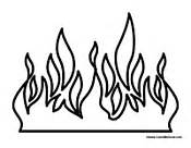 Fire Coloring Pages sketch template