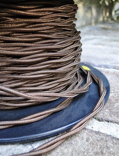 50 antique brown rayon cloth electrical wire cord