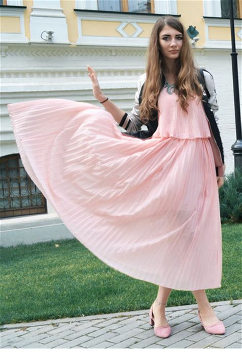 light pink pleated gamiss dresses light pink suede gamiss