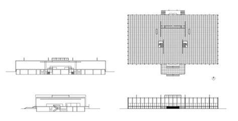 crown hall cad design  cad blocksdrawingsdetails