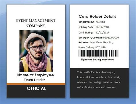 Paper Membership Card Template by 17 Best 100 Employee Card Template Images On