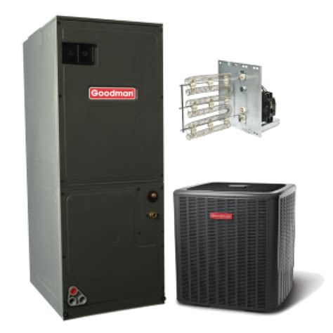 Ac Electric Air goodman 14 seer 1 5 ton electric heat split system in 1 5
