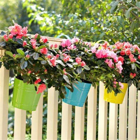 Flower Planters For Fences by Ideas For Small Gardens Balconies Zenplicity
