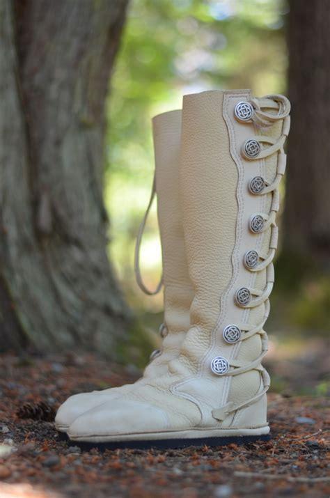 White Buffalo Wedding Moccasins (Deposit)   Soul Path Shoes