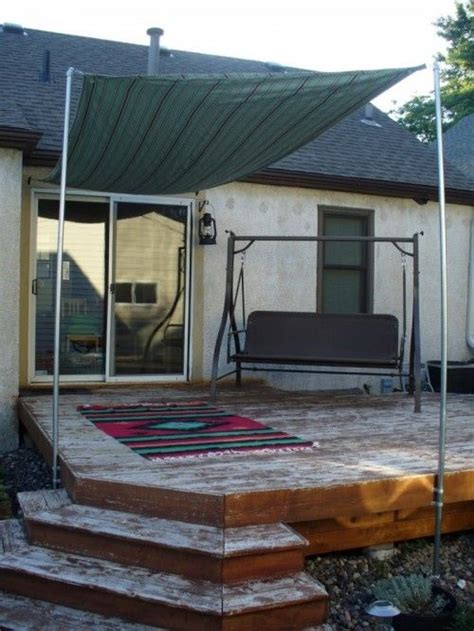 diy awning for patio diy sun shade for your patio or terrace diy pinterest