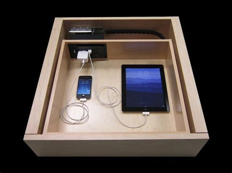 Usb Drawer by Drawer With Usb Charger And Electrical Outlet