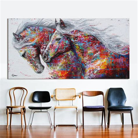 canvas for room hdartisan wall picture canvas painting animal print for living room home decor the two