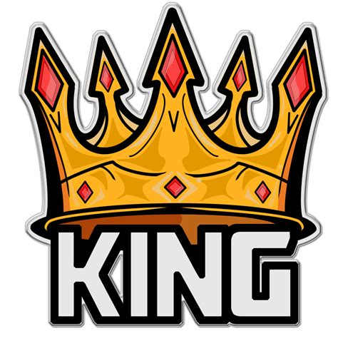 logo king and gold king crown logo