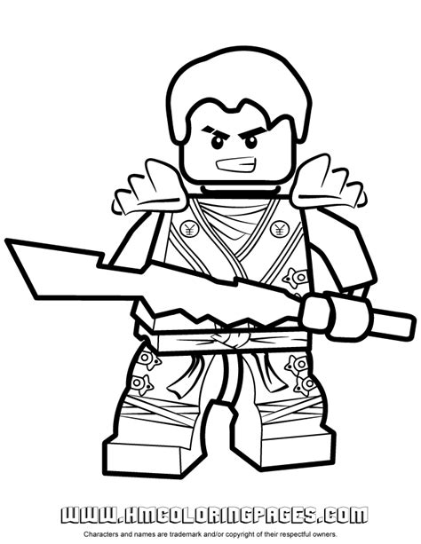 free coloring pages of jay of ninjago