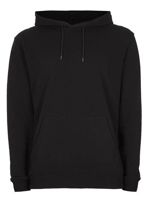 black hoodie black classic fit hoodie topman