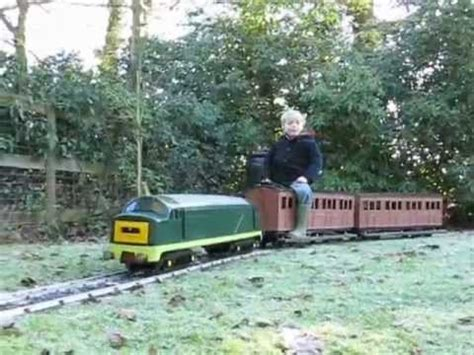 ride on backyard trains electric train on 5 inch ride on garden railway youtube