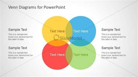 powerpoint venn diagram intersection 8075 colorful venn diagram 4 slidemodel