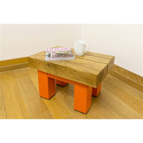 oak and iron small coffee table by oak iron furniture