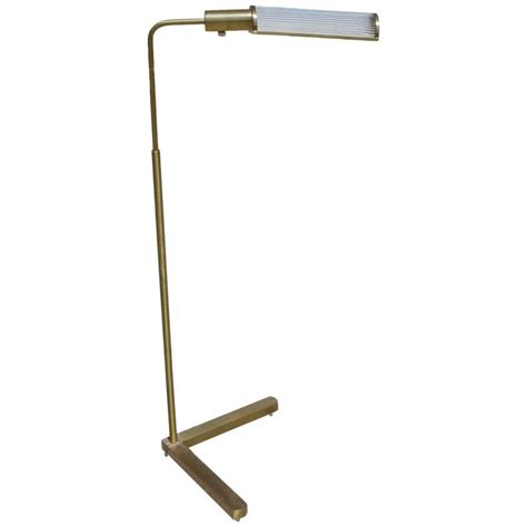 Pharmacy Floor L With Glass Shade by Brass Pharmacy Floor L With Glass Rod Shade By Casella