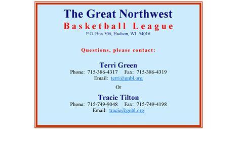 Invitation Letter Basketball League Great Northwest Basketball League Gnbl