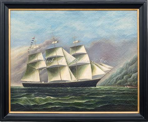 Painting U by China Trade Marine Painting U S Ship Quot Typhoon Quot In