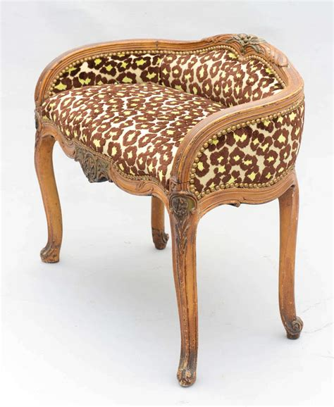 upholstered vanity bench upholstered louis xv style vanity bench for sale at 1stdibs