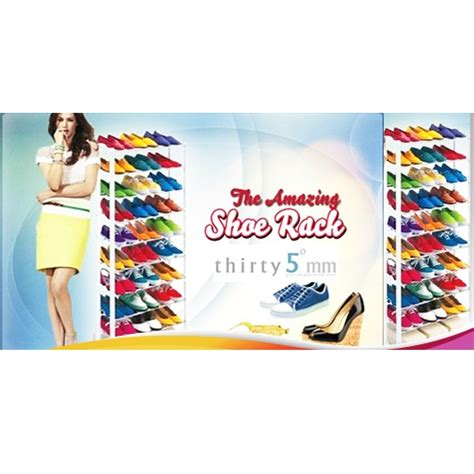 Ready Amazing Shoes Rack Rak Sepatu Tempat Sepatu Sandal Amazing Shoes Rack Rak Sepatu Atau Sandal White