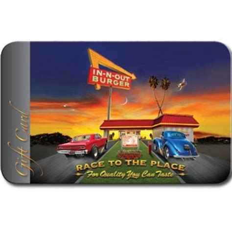 In N Out Burger Gift Card - an in n out gift card stuff i like pinterest