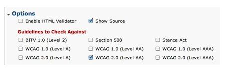 section 508 compliance checker checking for section 508 and wcag compliance with web