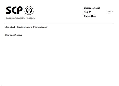 blank scp document by uri the espeon on deviantart
