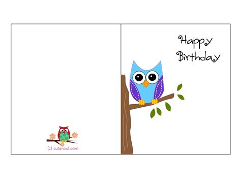 Free Printable Owl Cards
