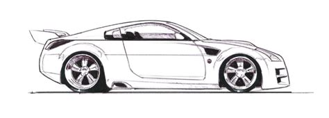 370z Coloring Page by Sketch Of Nissan 240sx Coloring Pages