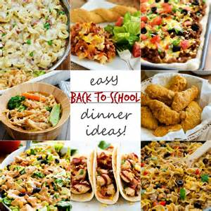 dinner ideas back to school dinner ideas in the lofthouse