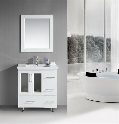 Stanton 32 inch Contemporary White Bathroom Vanity Set