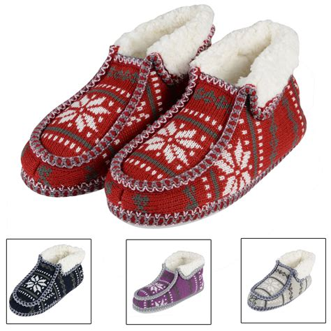 knitted slippers for sale sale knitted fairisle bootie slippers for sherpa