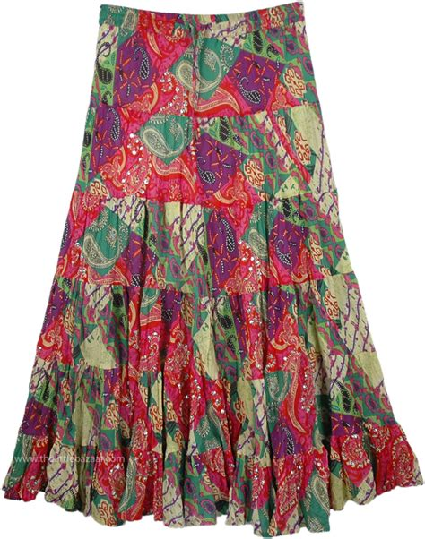 Colourful Skirt fancy colorful swingy skirt sequin skirts sale on