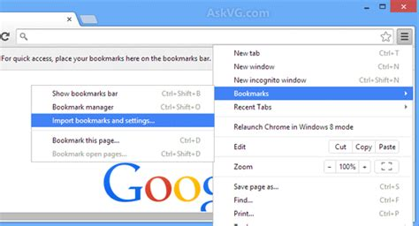 google images favorites tip how to import copy other web browsers bookmarks in