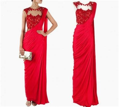 These Saree Gown Designs Are Surely A Must Try   Stories