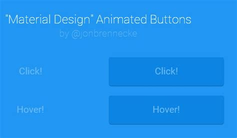 material design button effect css css only material design animated buttons designbeep