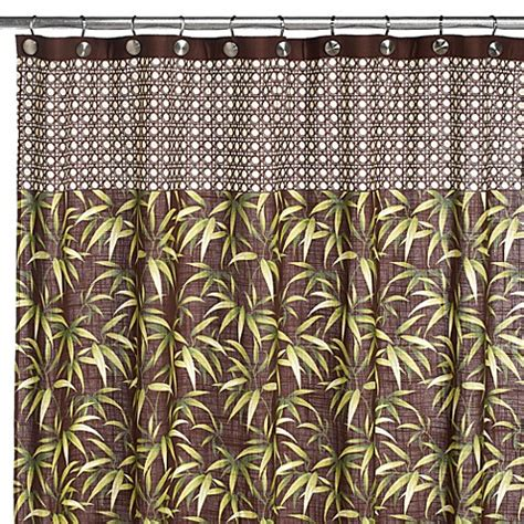 tropical shower curtains fabric tommy bahama tropical fabric shower curtain bed bath