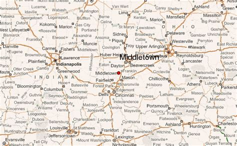 map of middletown ohio middletown location guide
