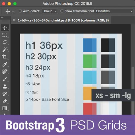 bootstrap layout grid psd bootstrap 3 grid psd photoshop template free download 2018