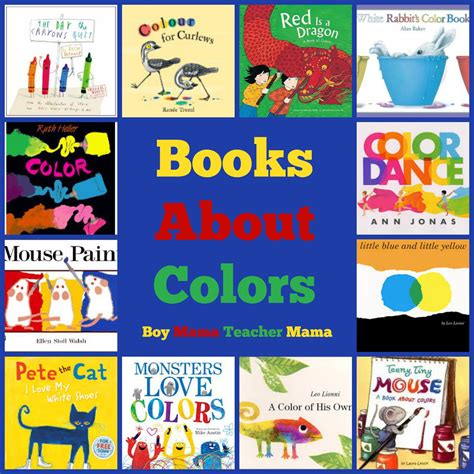 color book book books about colors boy