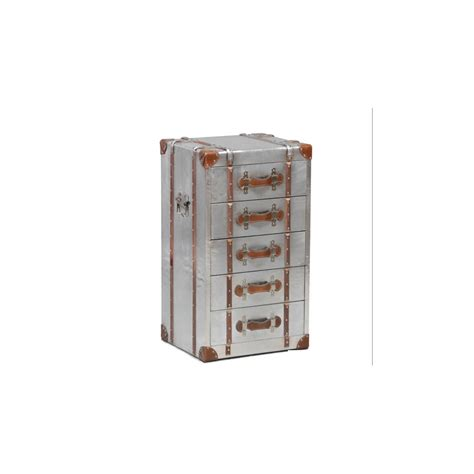 Silver Drawer by Industrial Travel Trunk Silver Drawer Unit