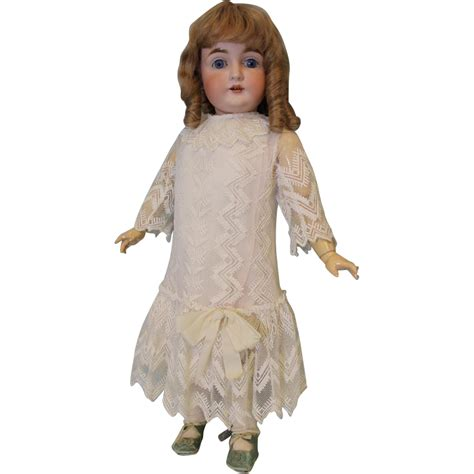 early bisque doll early c 1890 antique 27 inch kestner 164 german bisque