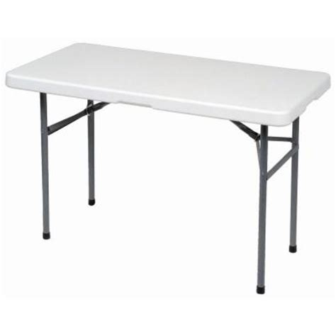 4 ft banquet folding table 2448bx the home depot