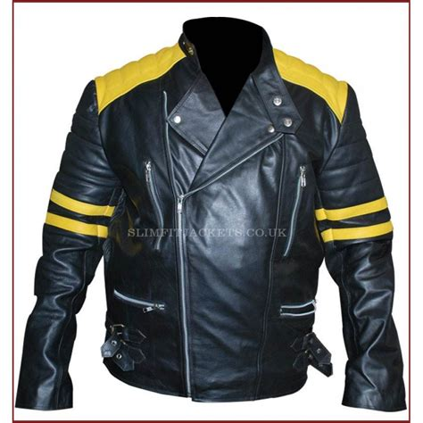 yellow motorcycle jacket men black motorcycle leather jacket with yellow stripes